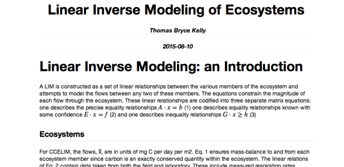 Finalizing my research, the CCELIM model, in R
